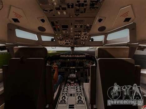 Boeing 737-800 Air Algerie для GTA San Andreas вид снизу