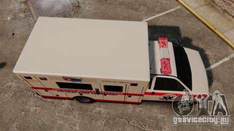 Brute Ambulance v2.1-SH для GTA 4 вид справа