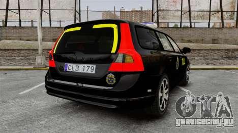 Volvo V70 Swedish TULL [ELS] для GTA 4 вид сзади слева