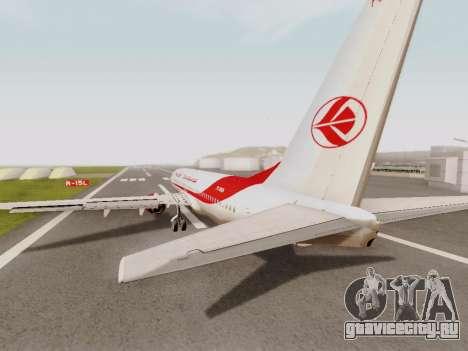 Boeing 737-800 Air Algerie для GTA San Andreas вид справа