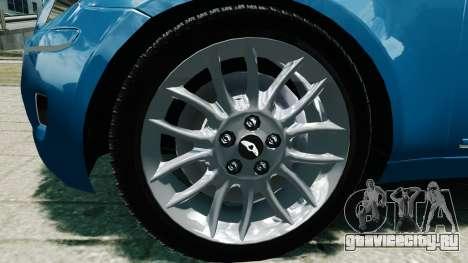 Hyundai Genesis V6 Sedan для GTA 4 вид справа
