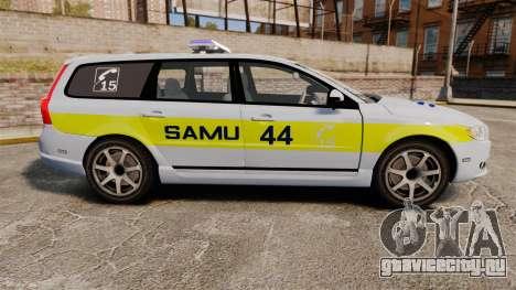 Volvo V70 SAMU 44 [ELS] для GTA 4 вид слева