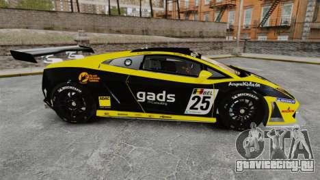 Lamborghini Gallardo LP560-4 GT3 2010 Gads для GTA 4 вид слева