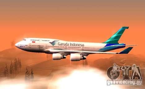 Boeing 747-400 Garuda Indonesia для GTA San Andreas вид слева