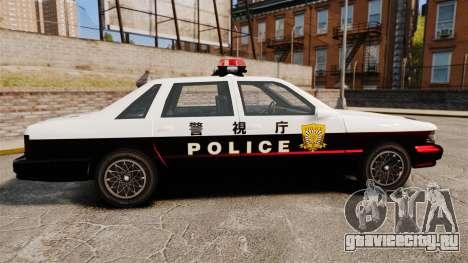 GTA SA Japanese Police Cruiser [ELS] для GTA 4 вид слева