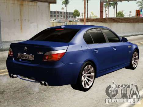 BMW M5 E60 2010 для GTA San Andreas вид справа