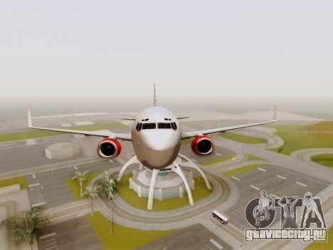Boeing 737-800 Air Algerie для GTA San Andreas вид сбоку