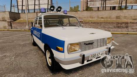 Wartburg 353w Deluxe Hungarian Police для GTA 4