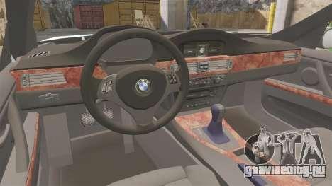 BMW 350i Japanese Police [ELS] для GTA 4 вид изнутри