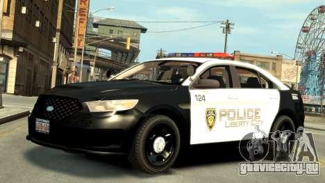 Ford Police Interceptor LCPD 2013 [ELS] для GTA 4 вид слева
