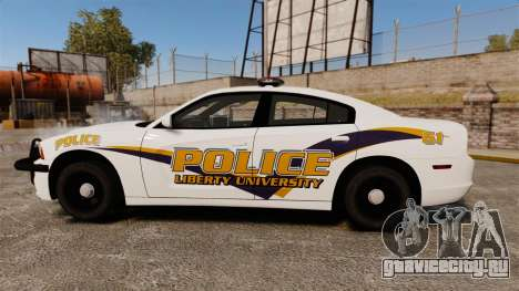 Dodge Charger 2013 Liberty University Police ELS для GTA 4 вид слева