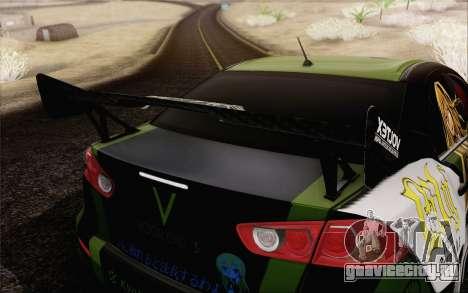Mitsubishi Lancer Evolution X 2008 для GTA San Andreas вид сверху