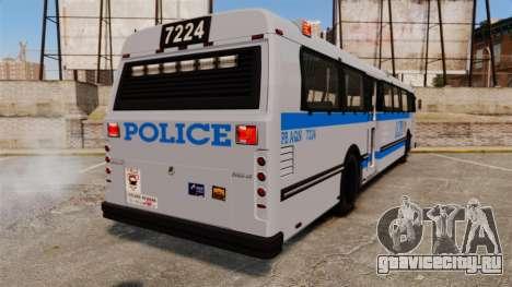 Brute Bus LCPD [ELS] для GTA 4 вид сзади слева