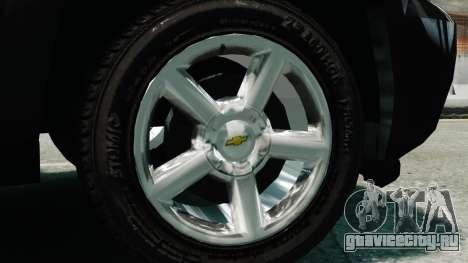 Chevrolet Suburban 2008 FBI [ELS] для GTA 4 вид справа
