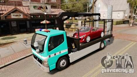 Mitsubishi Fuso Canter Japanese Auto Rescue для GTA 4 вид изнутри