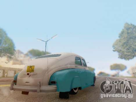 ГАЗ М-20 Победа для GTA San Andreas вид сзади