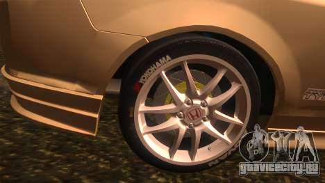 Honda Integra Type R для GTA San Andreas вид сзади слева