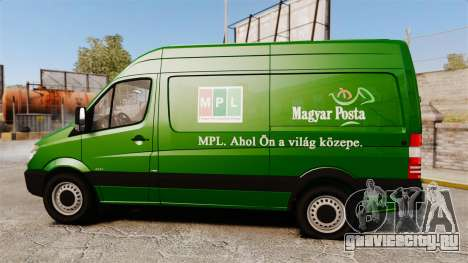 Mercedes-Benz Sprinter 2500 2011 Hungarian Post для GTA 4 вид слева