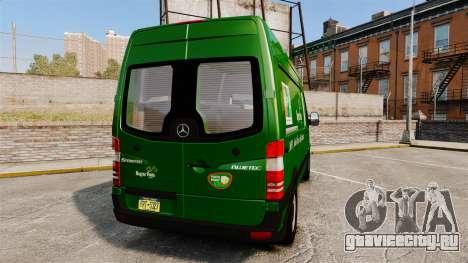 Mercedes-Benz Sprinter 2500 2011 Hungarian Post для GTA 4 вид сзади слева