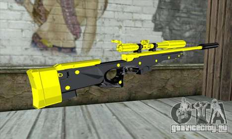 Yellow Sniper Rifle для GTA San Andreas второй скриншот