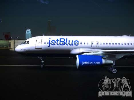 Airbus A320 JetBlue для GTA San Andreas вид сзади слева