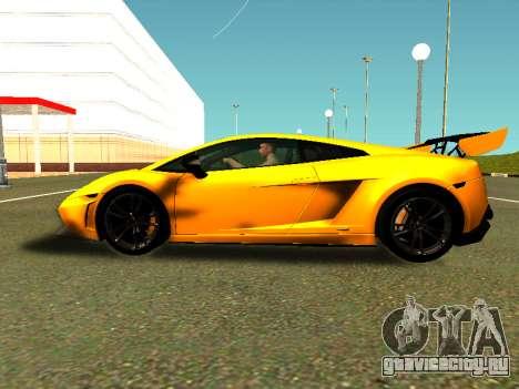 Lamborghini Gallardo Super Trofeo Stradale для GTA San Andreas вид сзади слева