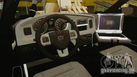 Dodge Charger 2011 Liberty Clinic Police [ELS] для GTA 4 вид сзади
