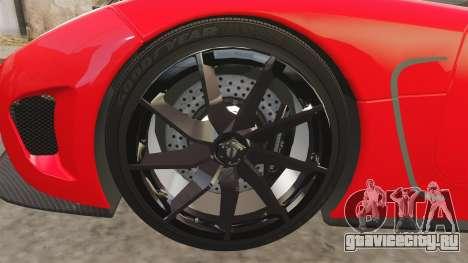 Koenigsegg Agera R [EPM] NFS для GTA 4 вид сзади