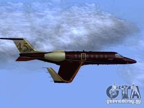 Bombardier Learjet 45 для GTA San Andreas вид справа