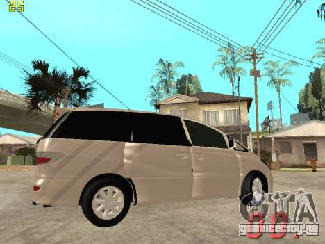 Toyota Estima KZ Edition 4wd для GTA San Andreas вид изнутри