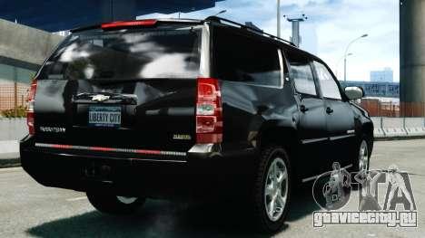 Chevrolet Suburban 2008 FBI [ELS] для GTA 4 вид сзади слева