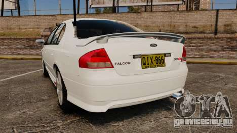 Ford Falcon XR8 Police Unmarked [ELS] для GTA 4 вид сзади слева