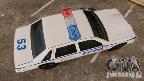 GTA SA Police Cruiser LCPD [ELS] для GTA 4 вид справа