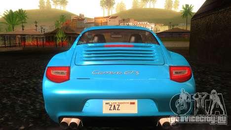 Porsche 911 Carrera GTS 2011 для GTA San Andreas вид снизу