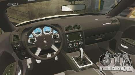 Dodge Challenger SRT8 2009 [EPM] APB Reloaded для GTA 4 вид сбоку