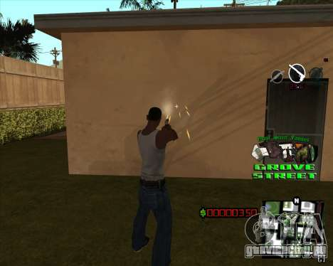C-HUD West Side Grove Street для GTA San Andreas второй скриншот