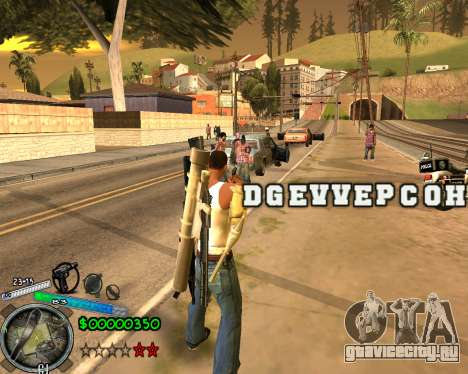 C-HUD Gor Life Ghetto для GTA San Andreas второй скриншот