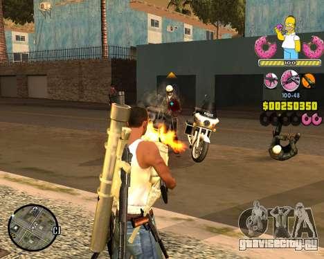 C-HUD Mr. Simpson для GTA San Andreas