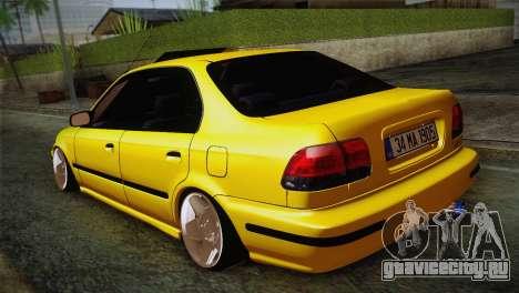 Honda Civic Edit Mehmet ALAN для GTA San Andreas вид сзади слева