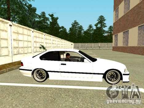BMW M3 E36 Coupe для GTA San Andreas вид сзади слева