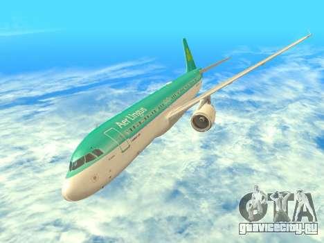 Airbus A320-200 Aer Lingus для GTA San Andreas вид сверху