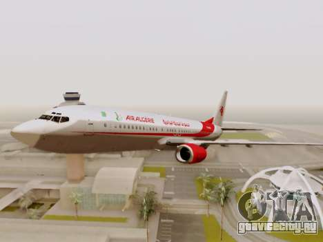 Boeing 737-800 Air Algerie для GTA San Andreas вид сверху