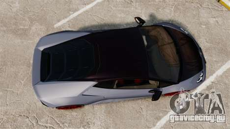 Lamborghini Huracan 2014 для GTA 4 вид справа