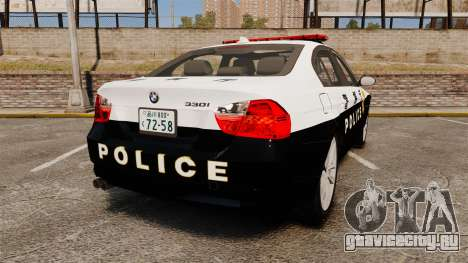 BMW 350i Japanese Police [ELS] для GTA 4 вид сзади слева
