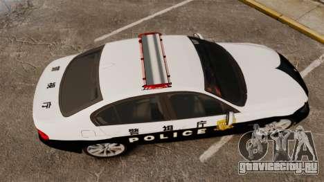BMW 350i Japanese Police [ELS] для GTA 4 вид справа