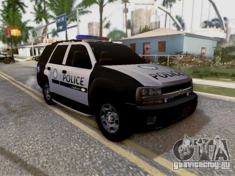 Chevrolet TrailBlazer Police для GTA San Andreas вид снизу