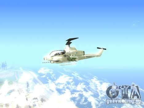 AH-1W Супер Кобра для GTA San Andreas вид сзади слева