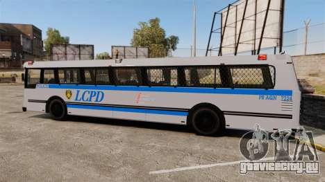Brute Bus LCPD [ELS] для GTA 4 вид слева