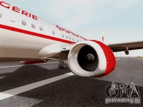 Boeing 737-800 Air Algerie для GTA San Andreas вид сзади