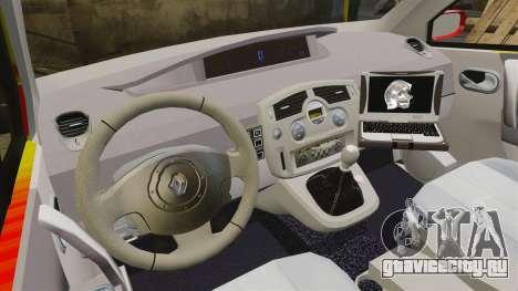 Renault Scenic Medicin v2.0 [ELS] для GTA 4 вид сзади